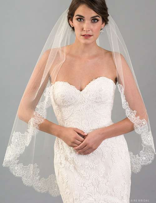 Velo in pizzo Chantilly Bel Air Bridal
