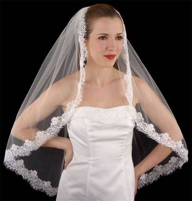 Velo in pizzo Chantilly LC Bridal Style