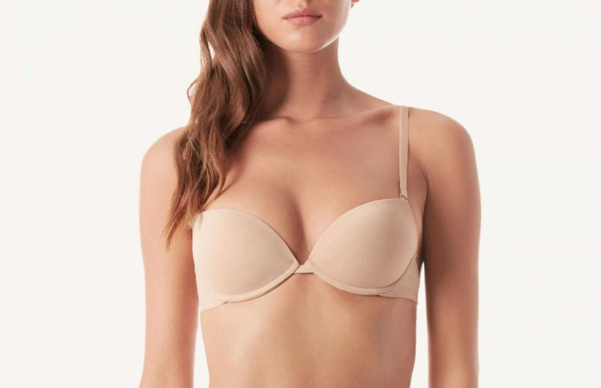 Reggiseno push-up in microfibra senza cuciture