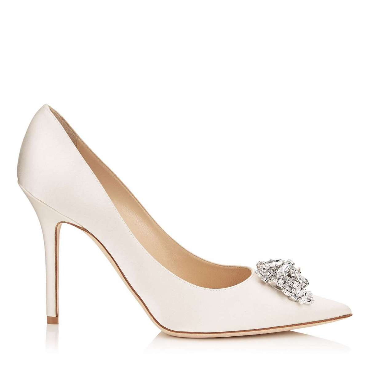 Scarpe in satin avorio Jimmy Choo