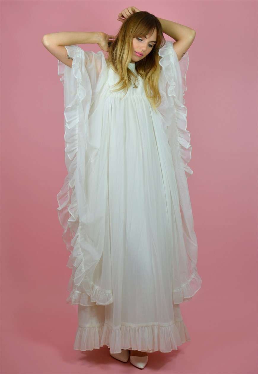 Abito da sposa vintage in tulle anni '70 The Vintage Brides' Club su Asos Marketplace