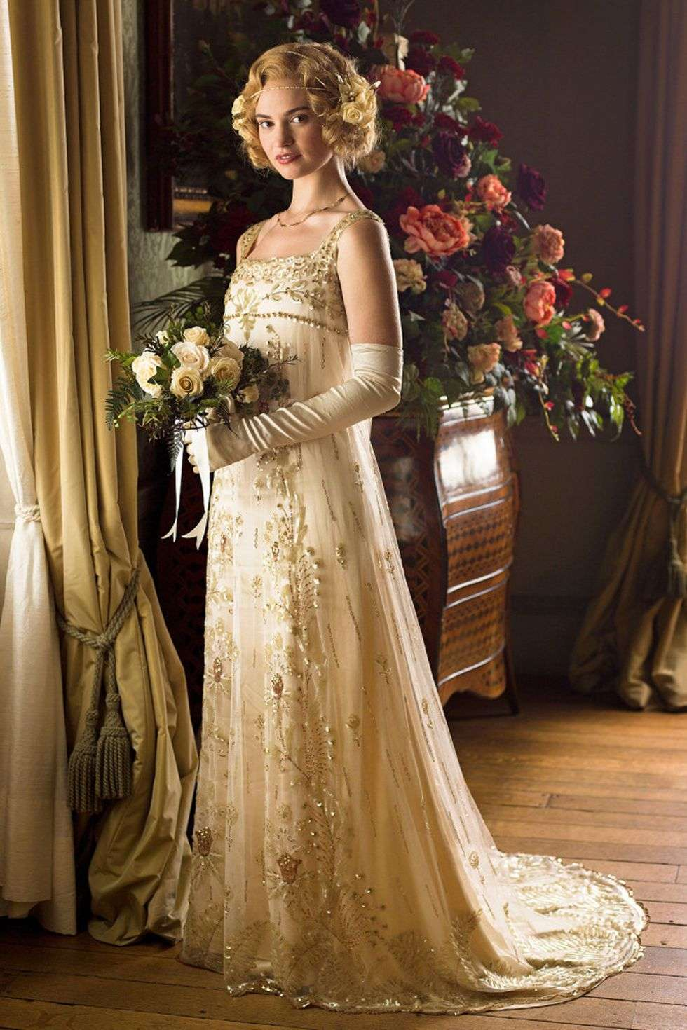L'abito da sposa di Rose MacClare in Downton Abbey