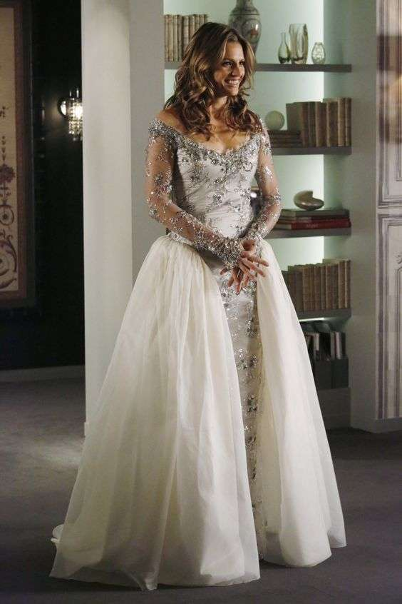 L'abito da sposa di Kate Beckett in Castle