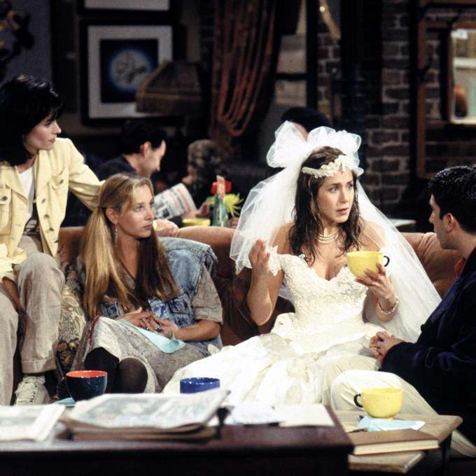 L'abito da sposa di Rachel in Friends