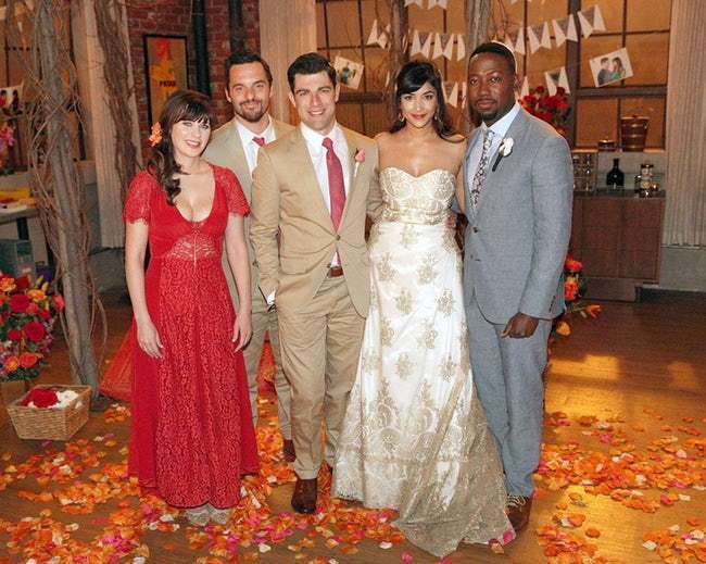 L'abito da sposa di CeCe Parekh in New Girl