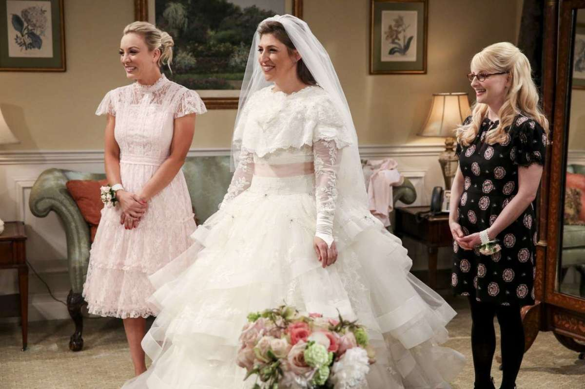 L'abito da sposa di Amy in The Big Bang Theory