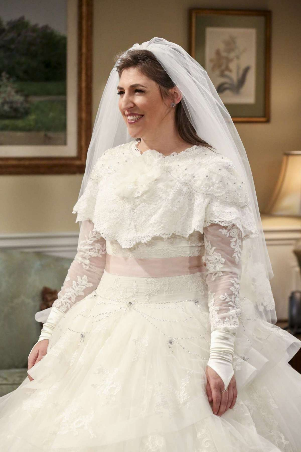 L'abito da sposa di Amy in The Big Bang Theory, dettaglio