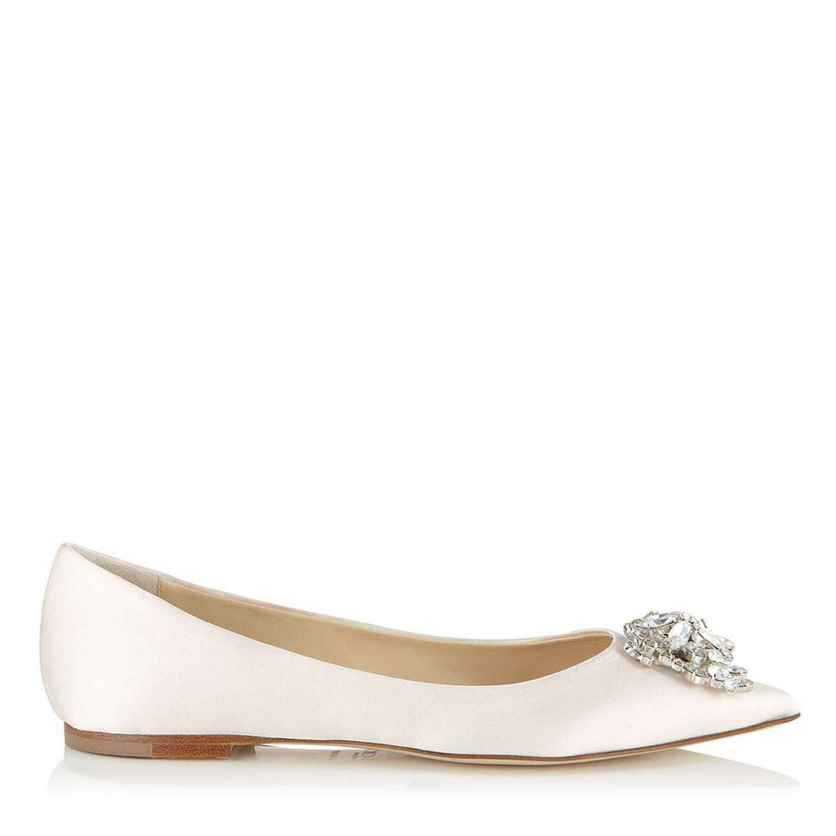 Ballerine a punta in satin Jimmy Choo