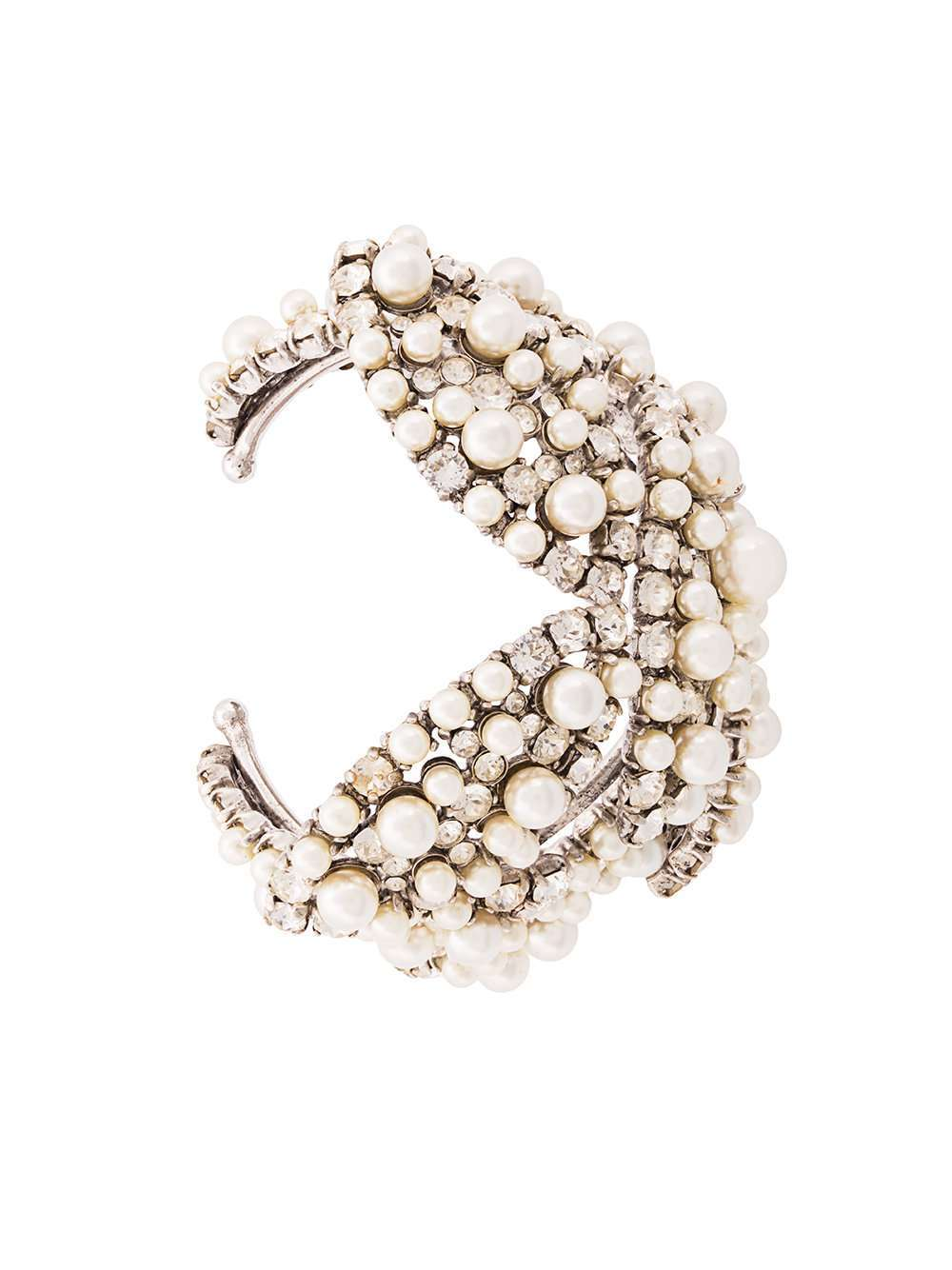 Bracciale di diamanti e perle Saint Laurent