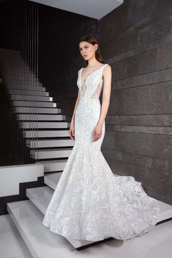 Vestito da sposa cut-out a sirena Tony Ward