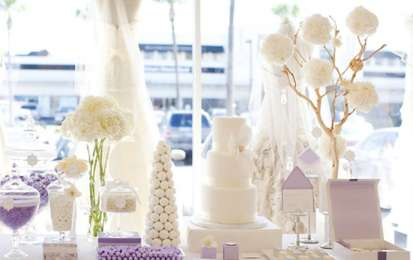 Decorazioni per il matrimonio color lavanda