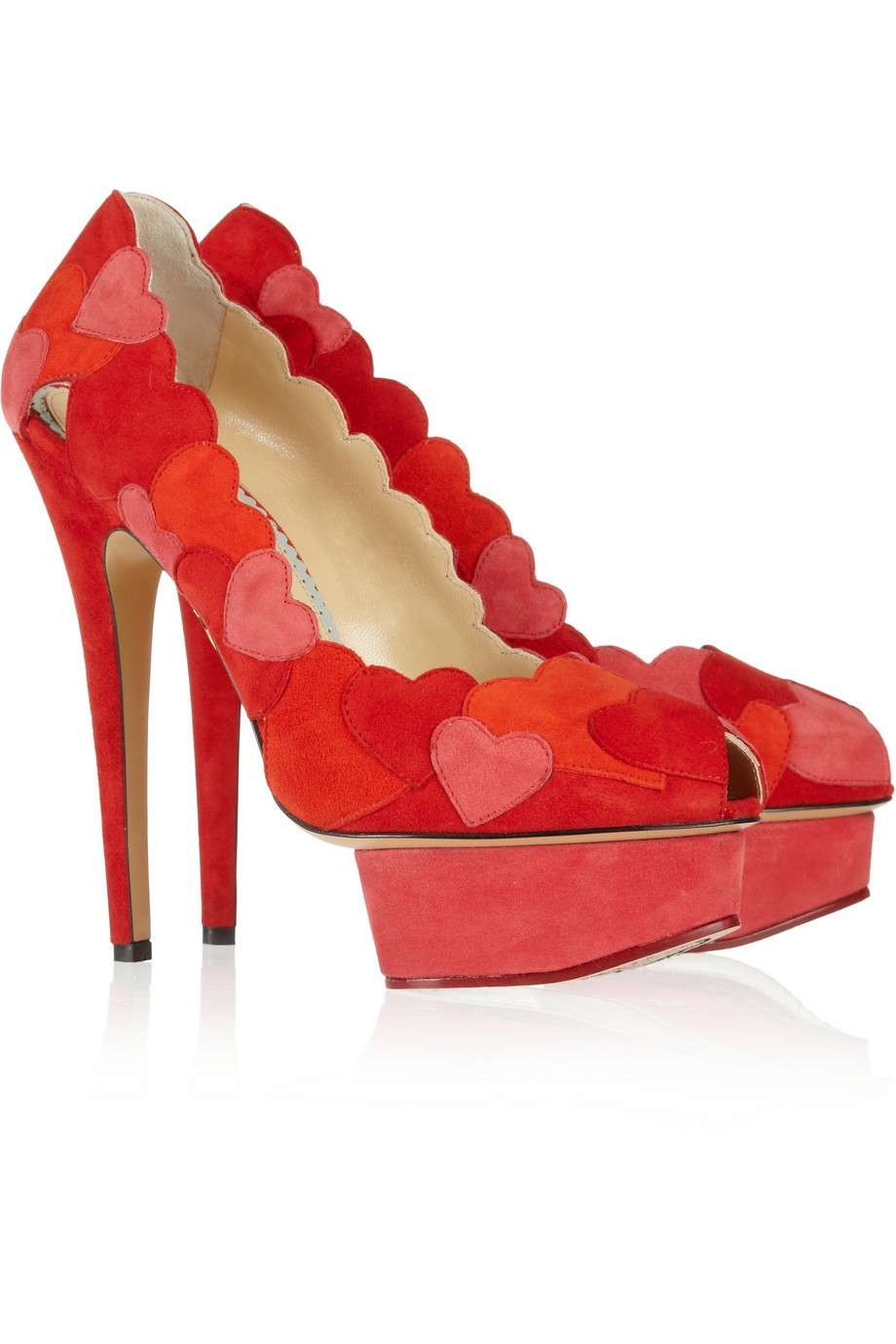 Pumps rosse Charlotte Olympia