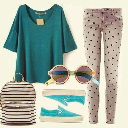 Look hipster colorato