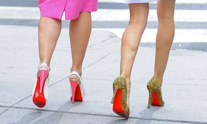 Suole rosse Louboutin sul set di Sex and the City