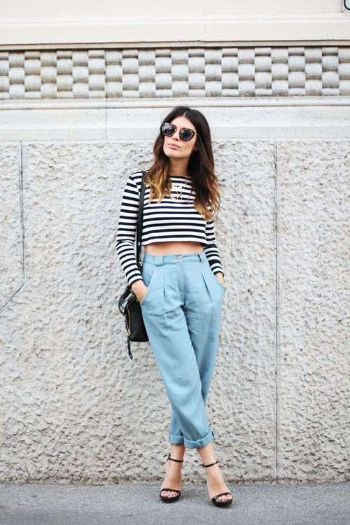 Look sporty con crop top