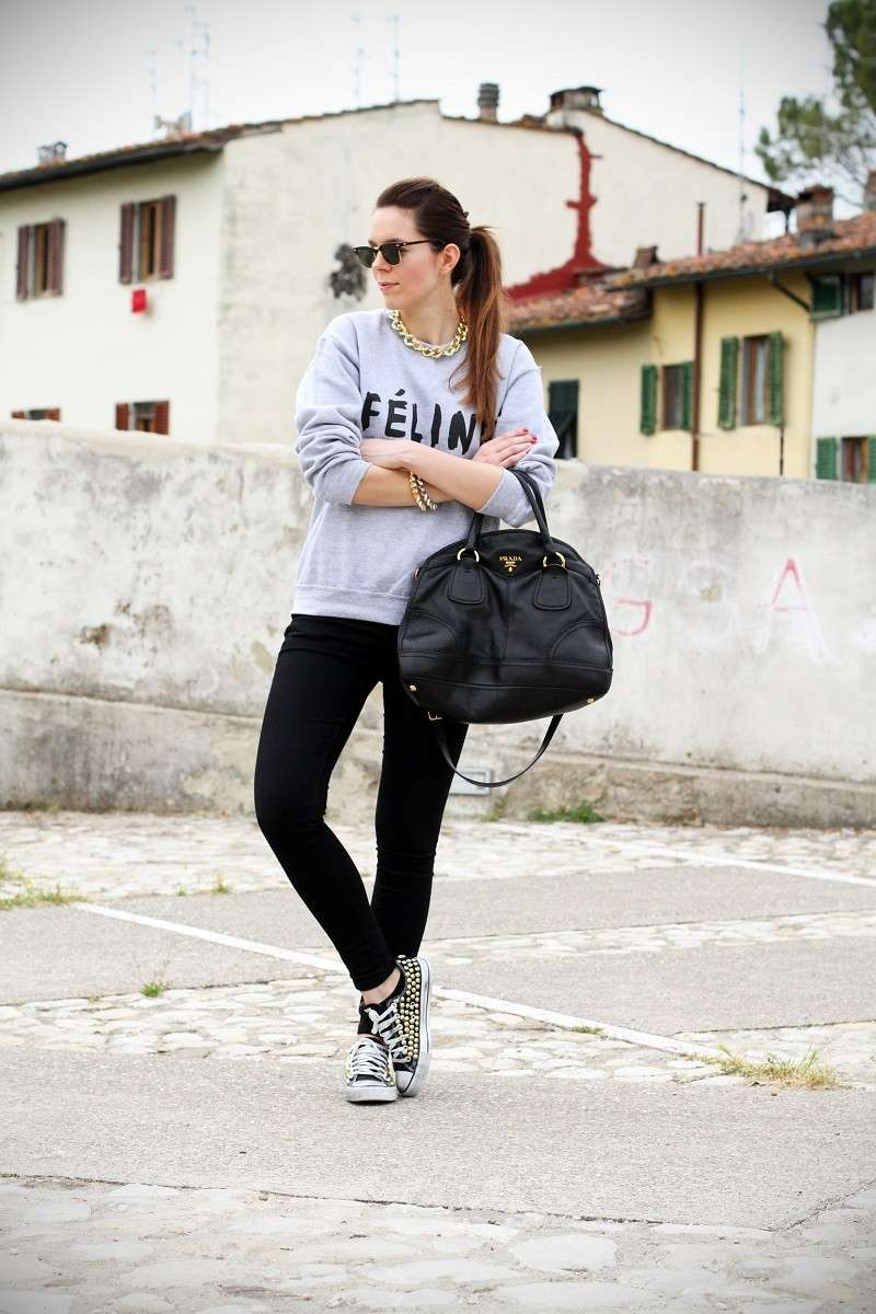 Leggings e Converse