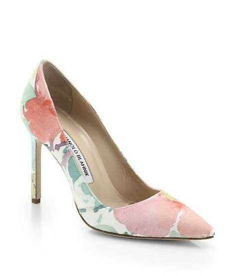 Pumps fiorate Manolo Blahnik