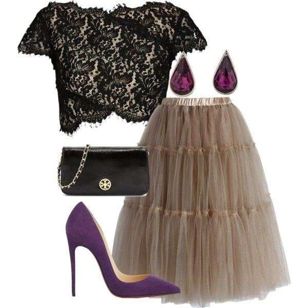 Look con gonna in tulle