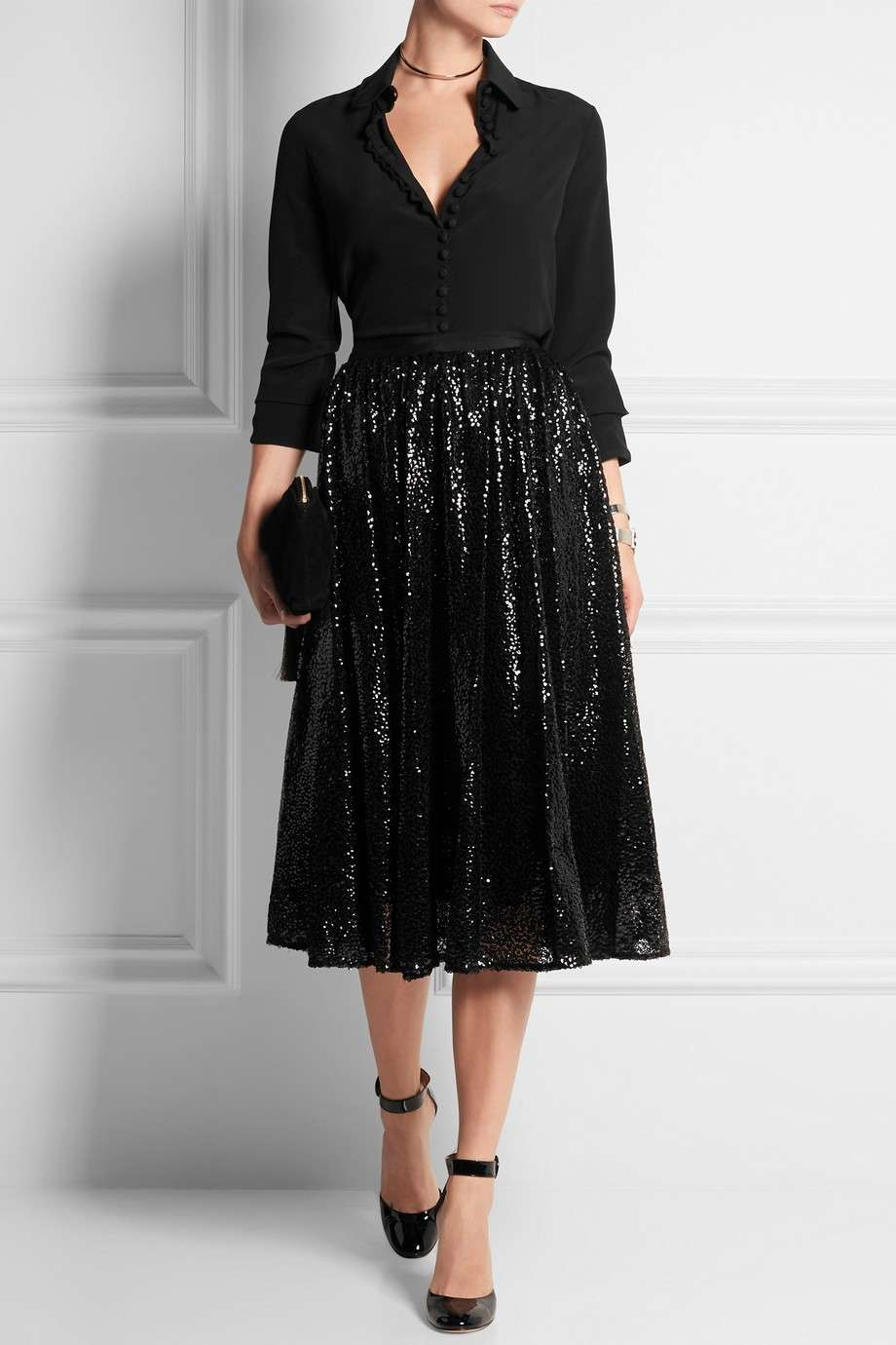 Gonna in tulle con paillettes Michal Kors