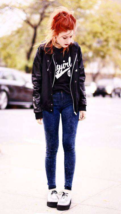 Jeans skinny e creepers