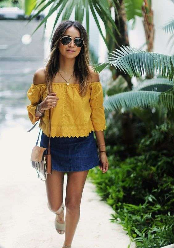 Look boho-chic con gonna svasata