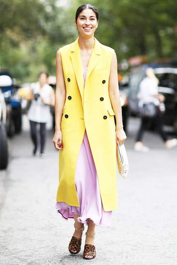 Look in rosa e giallo