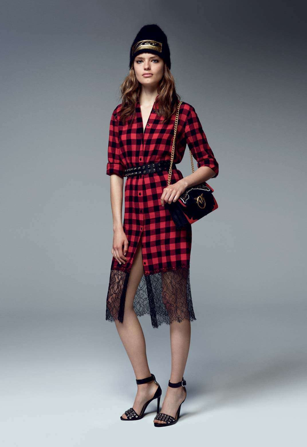 Maxi dress tartan Pinko