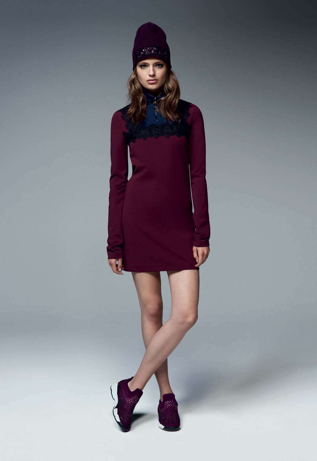 Minidress burgundy