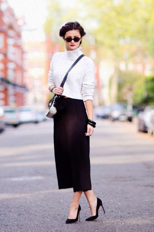 Look con cropped sweater