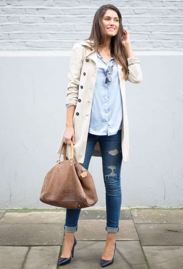 Jeans e trench