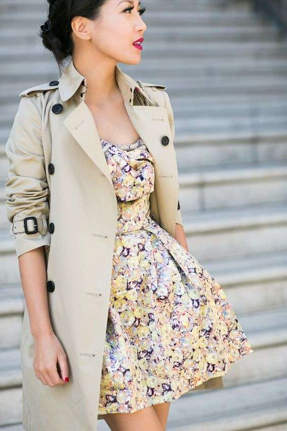 Trench e minidress
