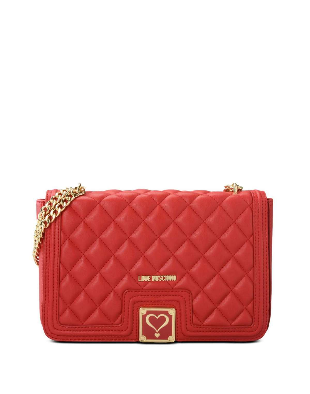Shoulder bag rossa Love Moschino