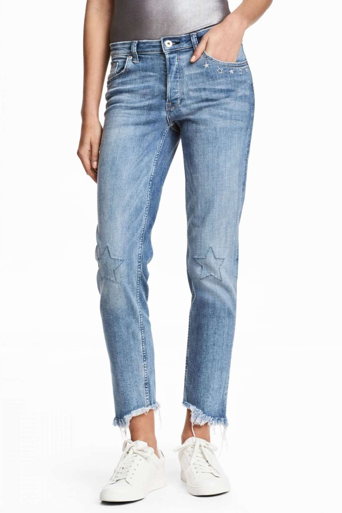 Mom jeans con stelle H&M