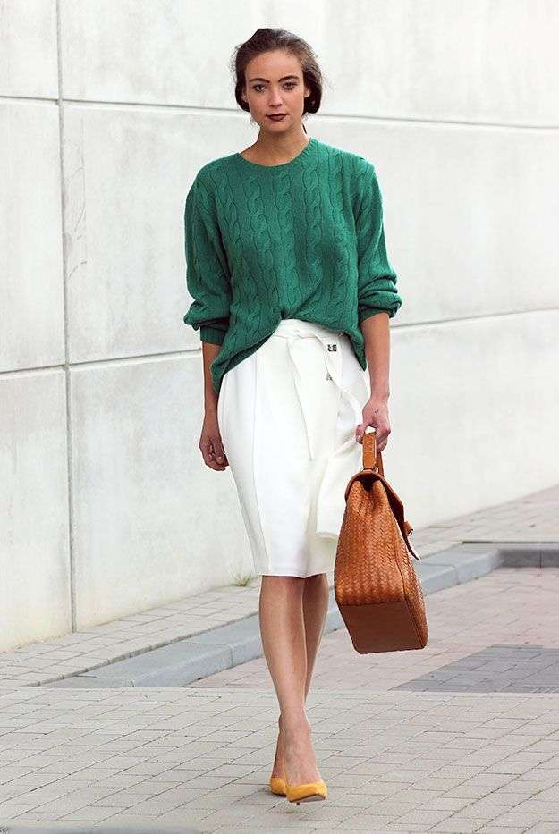 Look in color block fashion
