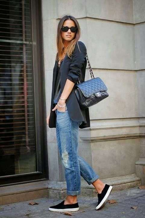 Jeans e giacca oversize