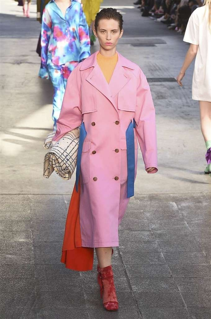 Trench rosa MSGM