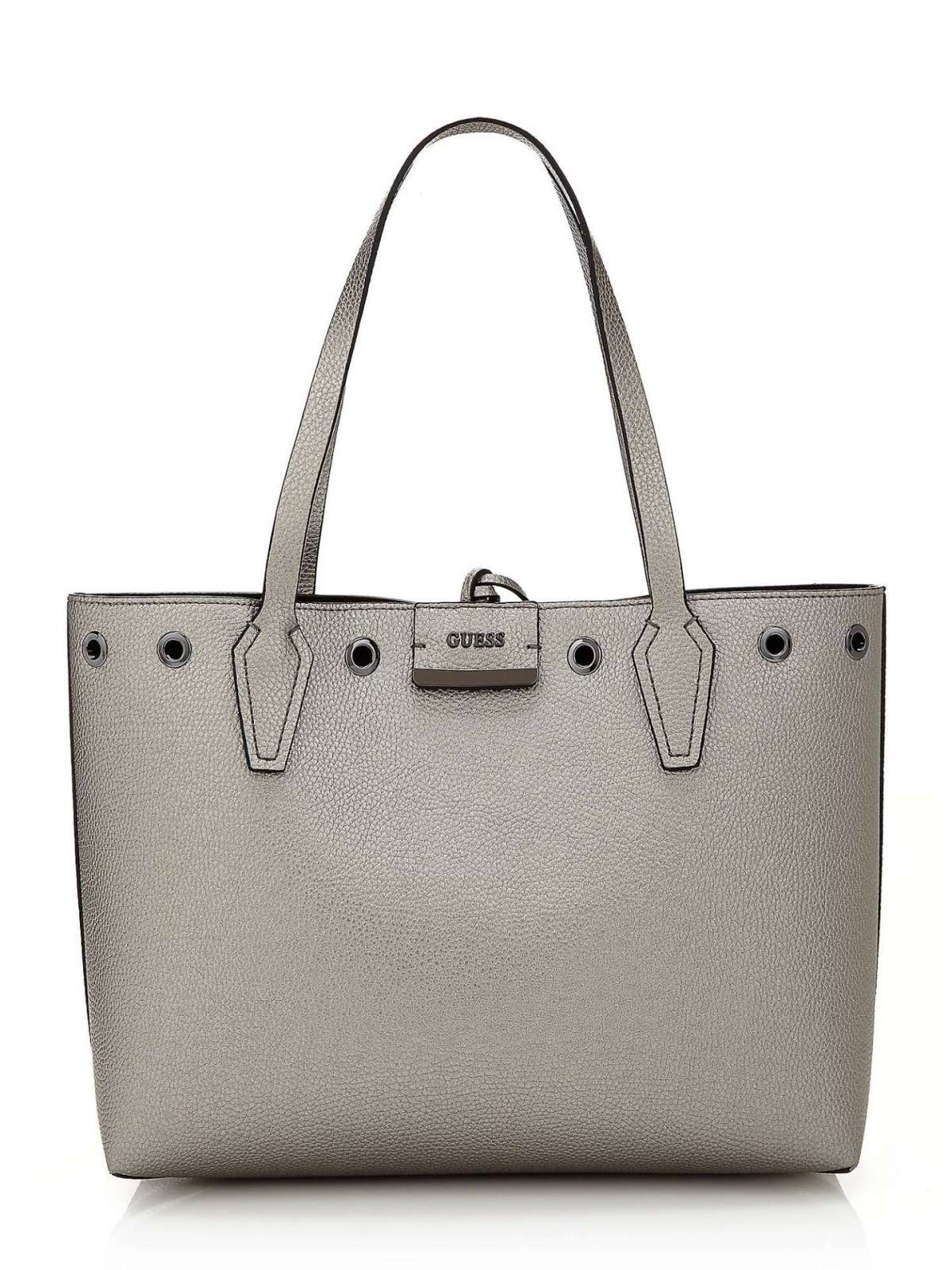 Shopper grigia reversibile