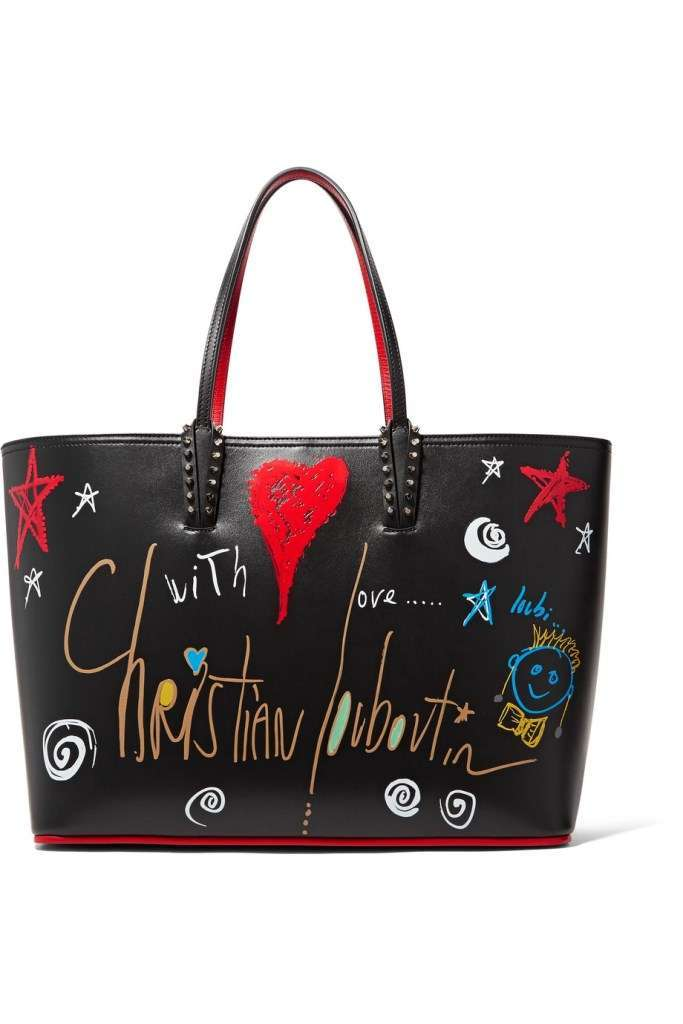 Shopping bag stampata Christian Louboutin
