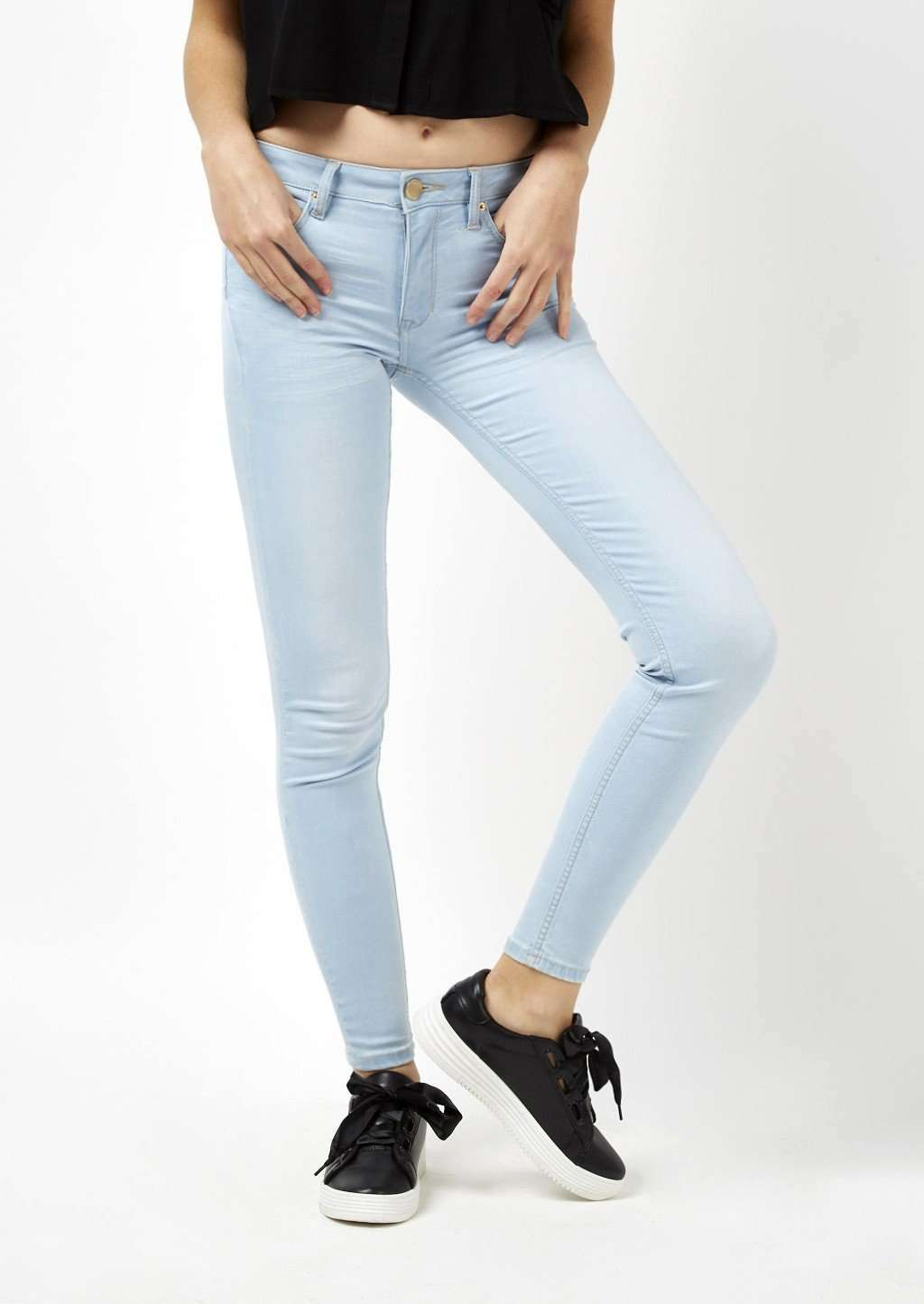 Jeans push-up Alcott in denim chiaro