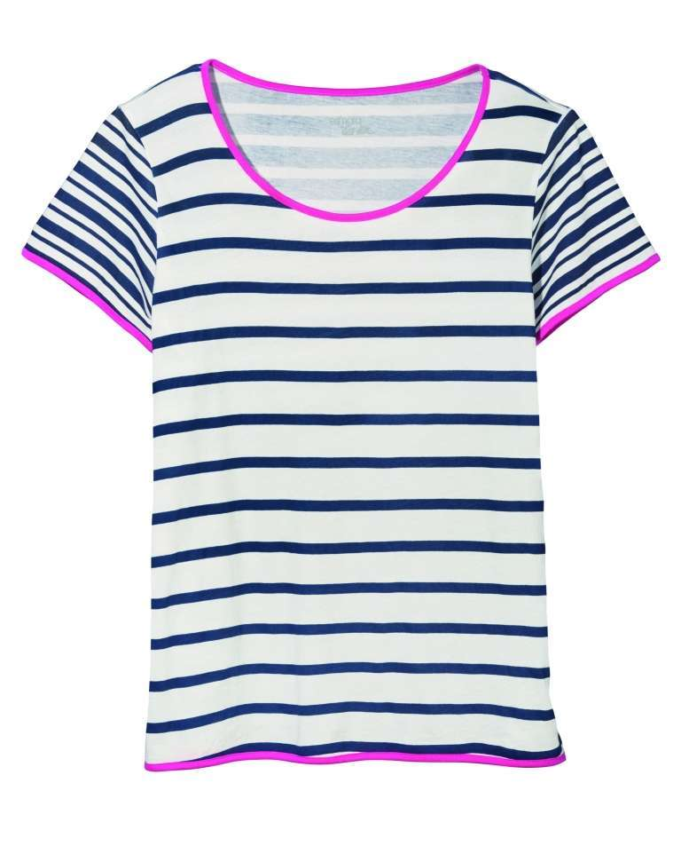 T-shirt a righe colorate