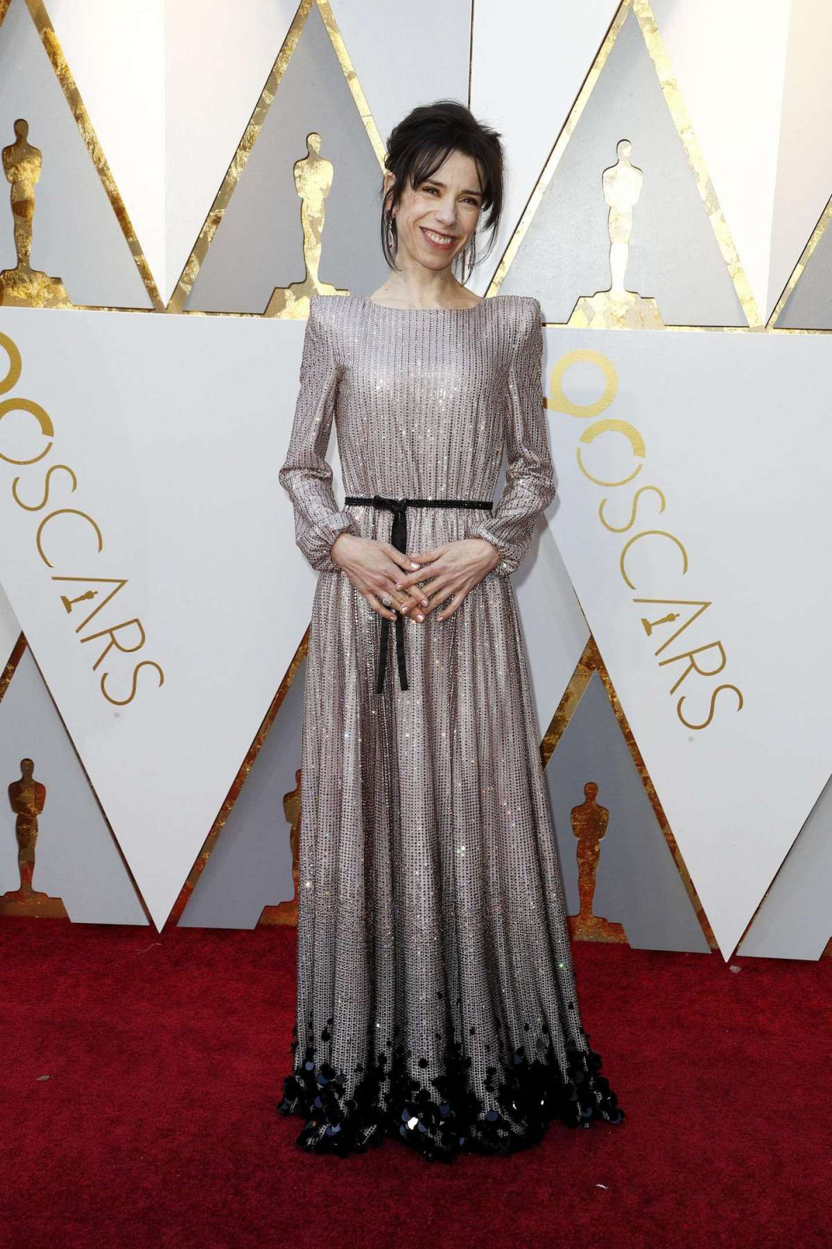 Sally Hawkins in Armani Privé con gioielli Chopard