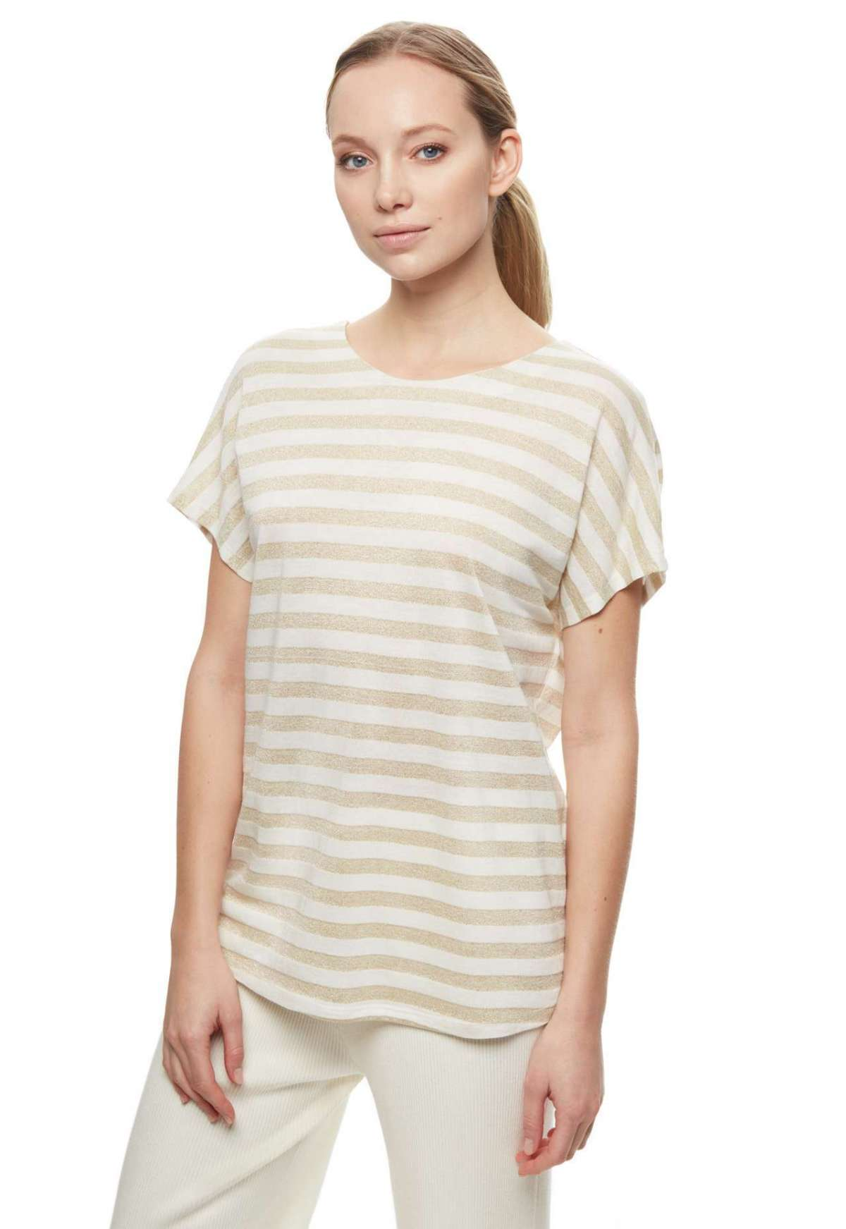 T-shirt Stefanel a righe in lurex a 69 euro