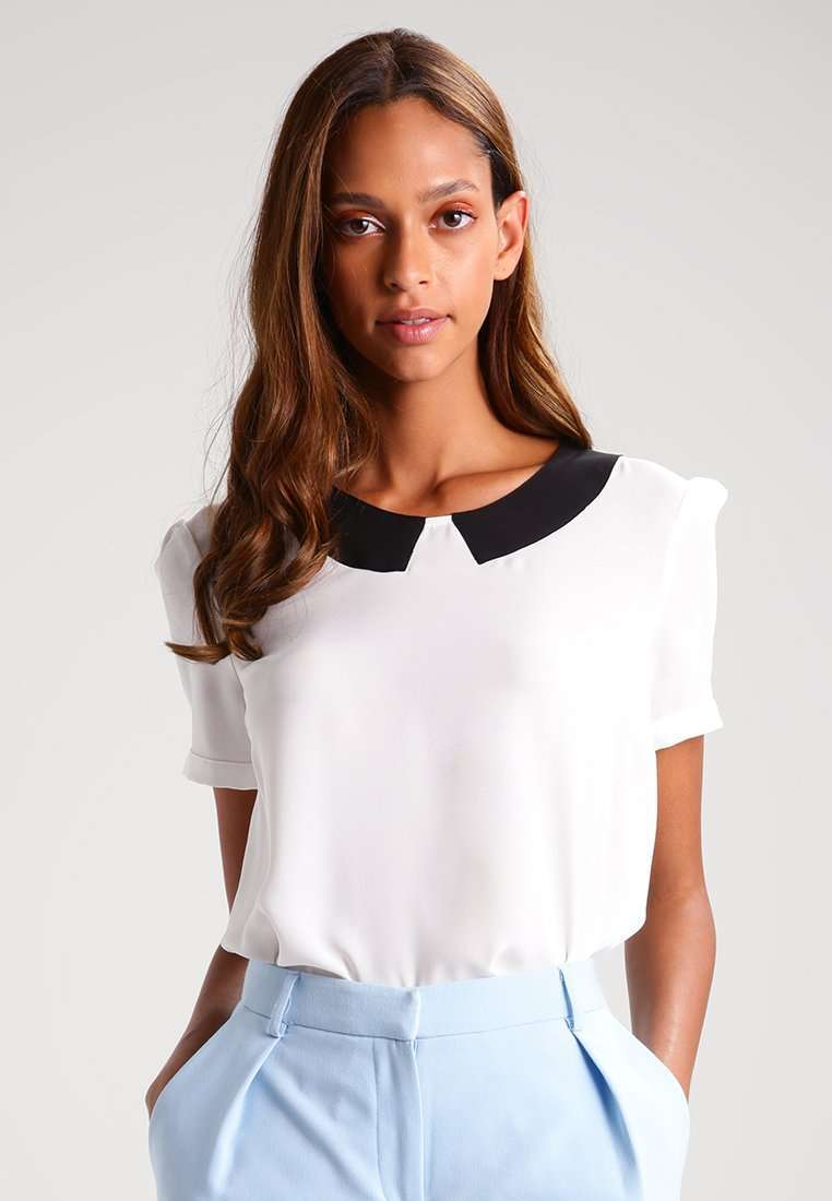 Blusa con colletto nero Mint & Berry