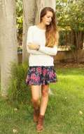 Look country chic con gonna a fiori