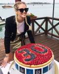 Gonna dorata per Chiara Ferragni