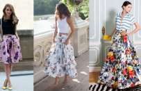 Gonna a fiori: come abbinarla per look sempre fashion [FOTO]