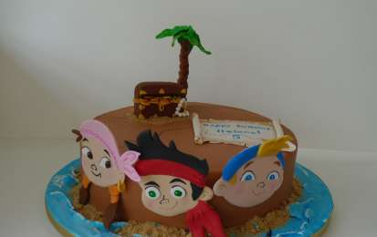 Idee per decorare la torta Jake e i pirati