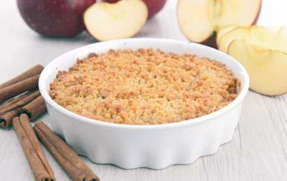 Crumble di mele e colomba