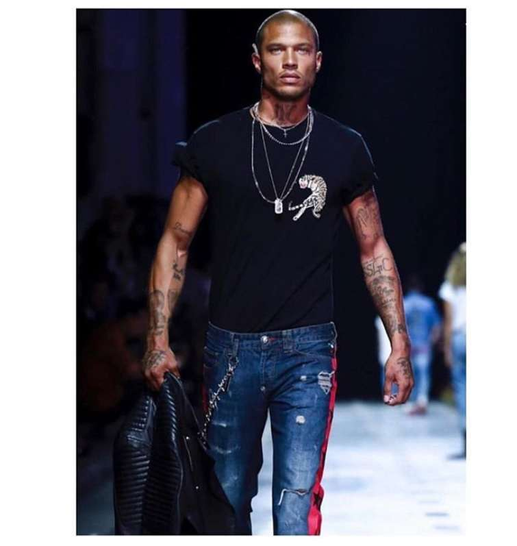 Jeremy Meeks alla Milano Fashion Week